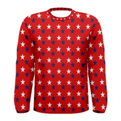Patriotic Red White Blue Usa Men s Long Sleeve Tee