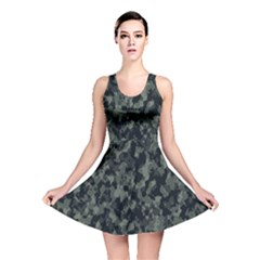 Camouflage Tarn Military Texture Reversible Skater Dress