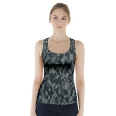 Camouflage Tarn Military Texture Racer Back Sports Top