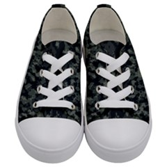 Camouflage Tarn Military Texture Kids  Low Top Canvas Sneakers