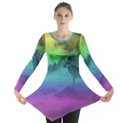 Yellowstone Wolfs Sunset Long Sleeve Tunic