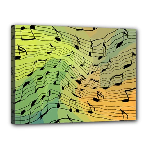 Music Notes Canvas 16  X 12