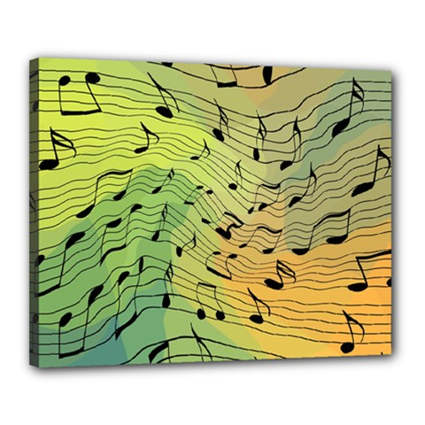 Music Notes Canvas 20  X 16