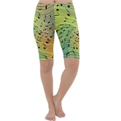 Music Notes Cropped Leggings
