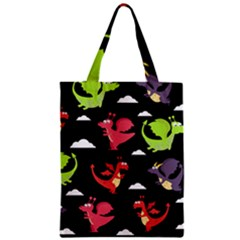 Cute Flying Dragons Zipper Classic Tote Bag
