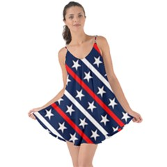 Patriotic Red White Blue Stars Love The Sun Cover Up