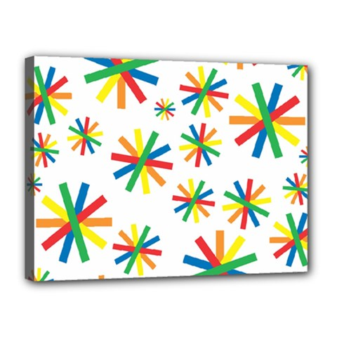 Celebrate Pattern Colorful Design Canvas 16  X 12