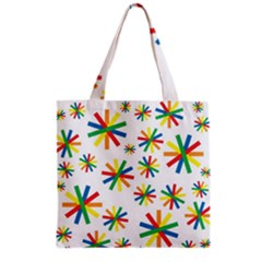 Celebrate Pattern Colorful Design Grocery Tote Bag