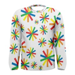 Celebrate Pattern Colorful Design Men s Long Sleeve Tee