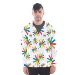 Celebrate Pattern Colorful Design Hooded Wind Breaker (men)