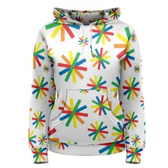 Celebrate Pattern Colorful Design Women s Pullover Hoodie