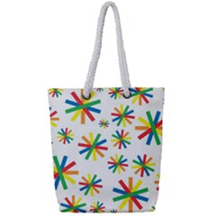 Celebrate Pattern Colorful Design Full Print Rope Handle Tote (small)