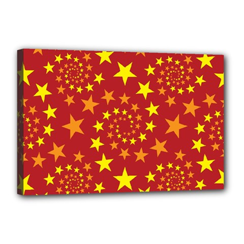 Star Stars Pattern Design Canvas 18  X 12