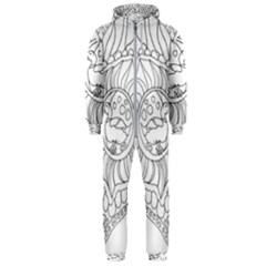 Heart Love Valentines Day Hooded Jumpsuit (men)