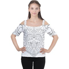 Heart Love Valentines Day Cutout Shoulder Tee