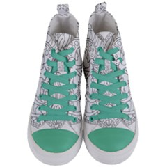 Heart Love Valentines Day Women s Mid Top Canvas Sneakers