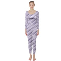 Halloween Lilac Paper Pattern Long Sleeve Catsuit