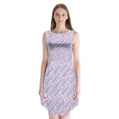 Halloween Lilac Paper Pattern Sleeveless Chiffon Dress