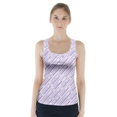 Halloween Lilac Paper Pattern Racer Back Sports Top