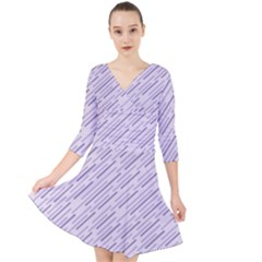 Halloween Lilac Paper Pattern Quarter Sleeve Front Wrap Dress