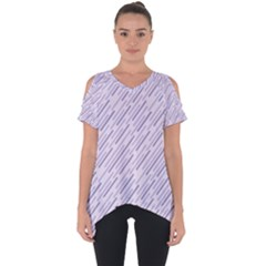 Halloween Lilac Paper Pattern Cut Out Side Drop Tee