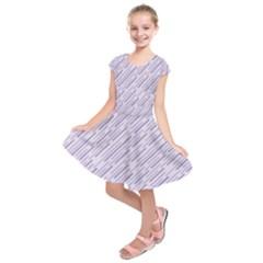 Halloween Lilac Paper Pattern Kids  Short Sleeve Dress