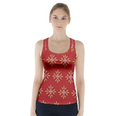 Pattern Background Holiday Racer Back Sports Top