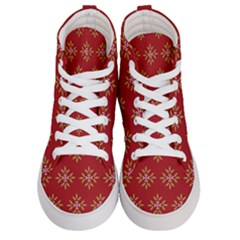 Pattern Background Holiday Women s Hi Top Skate Sneakers