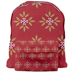 Pattern Background Holiday Giant Full Print Backpack