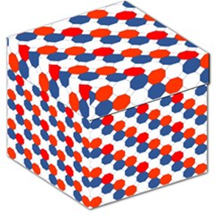 Geometric Design Red White Blue Storage Stool 12