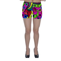 Seamless Tile Background Abstract Skinny Shorts