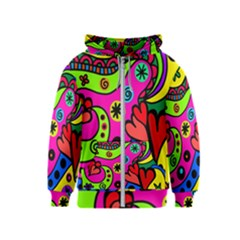 Seamless Tile Background Abstract Kids  Zipper Hoodie