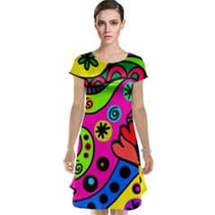 Seamless Tile Background Abstract Cap Sleeve Nightdress