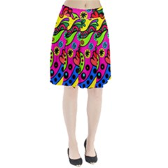 Seamless Tile Background Abstract Pleated Skirt
