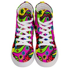 Seamless Tile Background Abstract Women s Hi Top Skate Sneakers