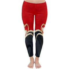 Red Black Background Wallpaper Bg Classic Winter Leggings