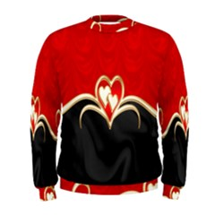 Red Black Background Wallpaper Bg Men s Sweatshirt