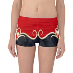 Red Black Background Wallpaper Bg Reversible Boyleg Bikini Bottoms