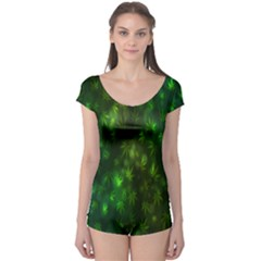 Bokeh Background Texture Marijuana Boyleg Leotard