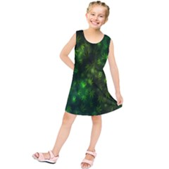 Bokeh Background Texture Marijuana Kids  Tunic Dress