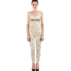 Yellow Peonies Onepiece Catsuit