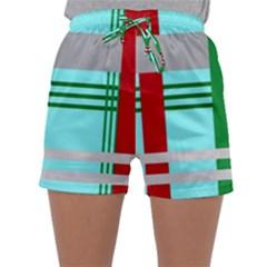 Christmas Plaid Backgrounds Plaid Sleepwear Shorts