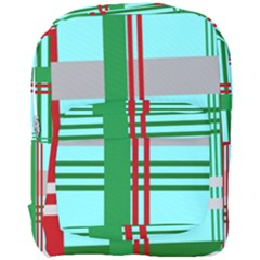 Christmas Plaid Backgrounds Plaid Full Print Backpack