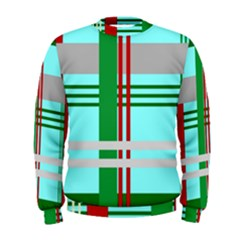 Christmas Plaid Backgrounds Plaid Men s Sweatshirt