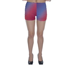 Dots Red White Blue Gradient Skinny Shorts