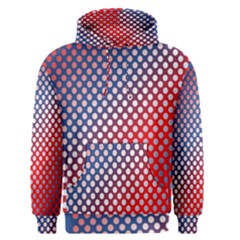 Dots Red White Blue Gradient Men s Pullover Hoodie