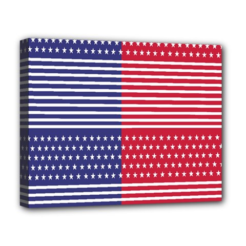 American Flag Patriot Red White Deluxe Canvas 20  X 16