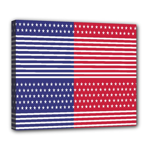 American Flag Patriot Red White Deluxe Canvas 24  X 20
