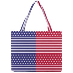 American Flag Patriot Red White Mini Tote Bag