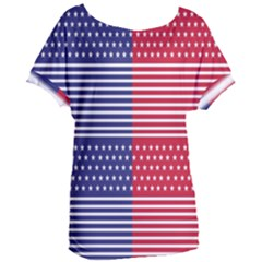American Flag Patriot Red White Women s Oversized Tee